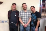 01 All 3 Reaper bassists - Dave Wanklin (original bass player), Rich Walker (ex bassist) and Chaz Grimaldi