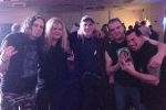 02 Grim Reaper after the show with original bassist Dave Wanklin (3rd from left)